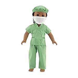 "18 Inch Dolls Clothes Hospital Doctor Nurse Scrubs Outfit | Clothing Fits 18"" American Girl 