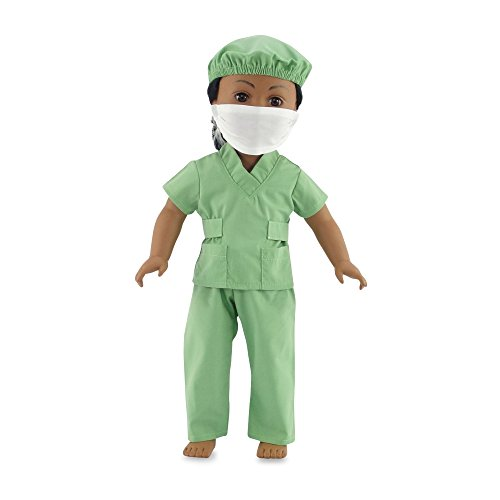 18 Inch Dolls Clothes Hospital Doctor Nurse Scrubs Outfit | Clothing Fits 18