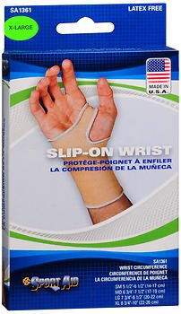Sport Aid Slip-On Wrist Support XL - 1 ea., Pack of 4 by SportAid