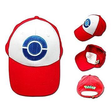 cosplay? Pokemon - Ash Ketchum - Blanco/Rojo - Terylene - Sombrero ...