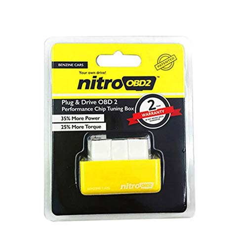 NITROOBD2 Gasoline Car Power Fuel Saver Performance Tuning Box 35% More Power by SMOXX, Car Parts and Accessories Pro Premium Easy Install