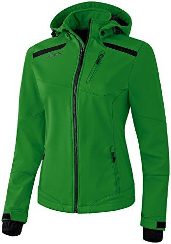 Erima - Chaqueta softshell, color negro y verde