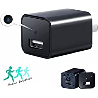 Hidden Cam,Latest 2017 Version USB Wall Charger Nanny Cam Motion Detection Home Security Monitor Camcorder(Not included SD card)
