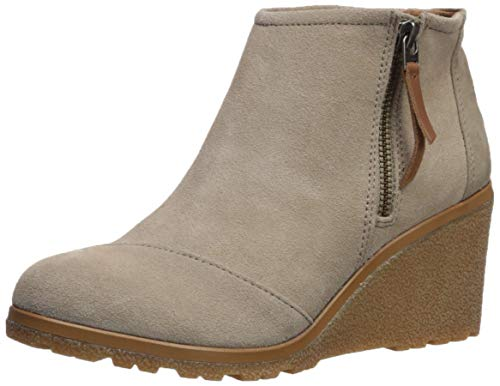 Beige Toms Wedges - TOMS Women's Avery Ankle Boot, Desert