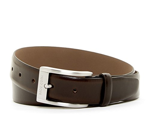Hugo Boss Men's Ugos Leather Belt, size 34, Dark Brown by HUGO BOSS