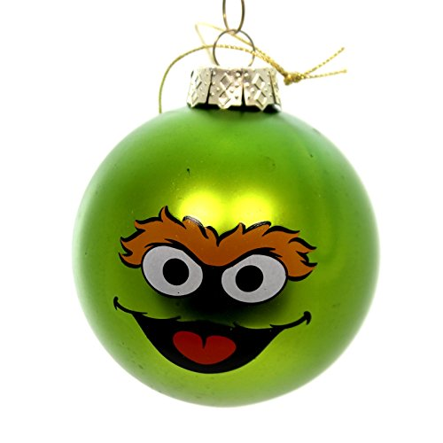 Licensed SESAME STREET BALL ORNAMENT Glass Oscar The Grouch