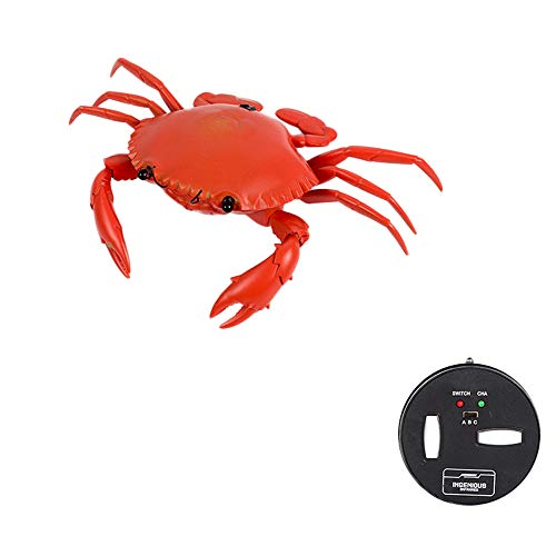 Infrared-Remote-Control-Realistic-Mini-Crab,RC-Prank-Insect-Scary-Trick-Toy,Vehicles-Crab-Mini-Car-Toy for-Kids (Red) ()