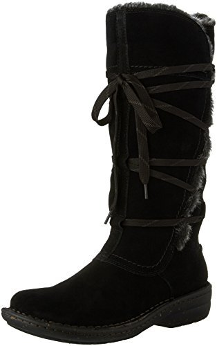 CLARKS Women's Avington Hayes Lace up Boot,Black Combination Cow Suede,US 6 (Black Cow Suede Footwear)