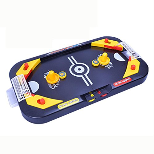 E-SCENERY Mini Air Hockey Table- A Toy for Girls and Boys Fun Table- Top Game for Kids, Teens, and Adults 2 In 1 Soccer & Ice Mini table