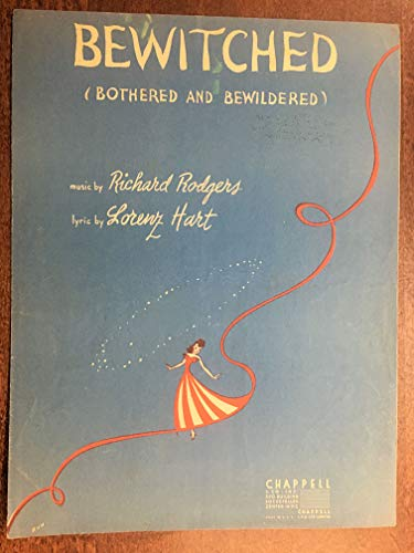 Hart Bewitched Rodgers - BEWITCHED (1941 Rodgers and Hart song SHEET MUSIC pristine condition) From the Broadway show PAL JOEY
