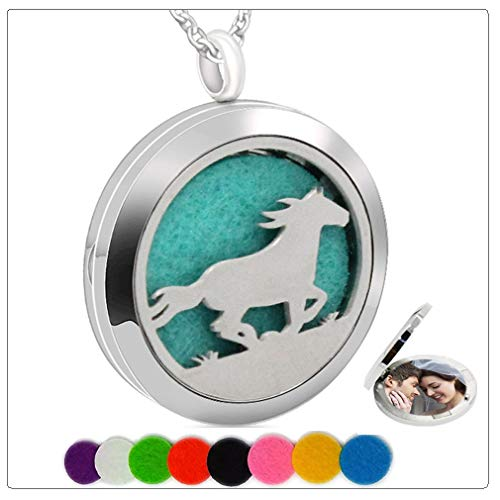 December Bead Boy Charm - Chaomingzhen Essential Oil Necklace Aromatherapy Diffuser Pendant Pad Horse Run Round Kids Boy Picture Locket Women