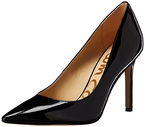 Sam Edelman Women's Hazel Dress Pump, Black Patent, 9.5 Wide US Wide Dress Pumps