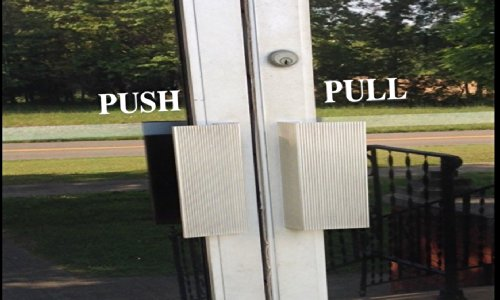 Push Pull Signs Sticker Decal Business Door 8 Inch E200
