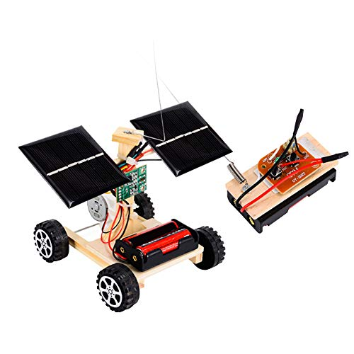 (Maserfaliw Toy Cars,DIY Solar Remote Control Racing Car Model Science Experiment Kids Assembly Toy)