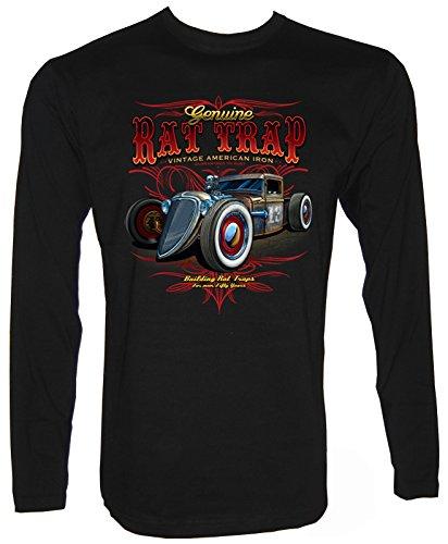 Hot Rod Rockabilli Oldtimer Old Skool PinUp Historic Langarm T-Shirt