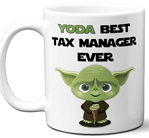 Funny Gift For Tax Manager. Yoda Best Employee Ever. Cute, Star Wars Themed Unique Coffee Mug, Tea Cup Idea for Men, Women, Birthday, Christmas, Coworker. ()