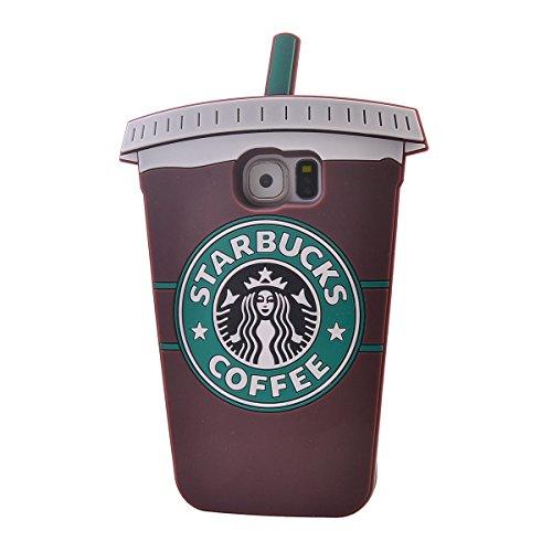 COOLKE Moda 3D Lovely Cartoon Suave Silicona Funda Carcasa Tapa Case Cover para Samsung Galaxy S6 Edge/ G925 - Rosa marrón