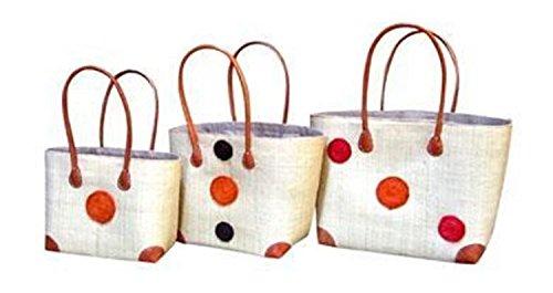 Madagascar Small Cream Raffia Hanta Swirl Basket