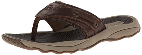 Sperry Men's Outer Banks Thong Fisherman Sandal, Brown, 12 M US