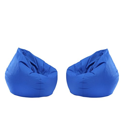 B Blesiya 2 Pieces Kids Waterproof Stuffed Animal Storage Bean Bag Covers - Pick - Royal Blue by B Blesiya