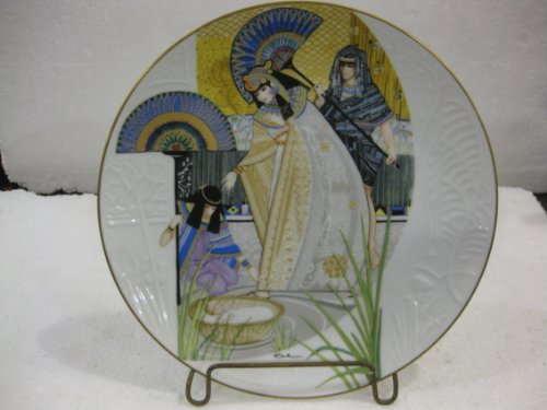 Edwin M. Knowles-The Pharaoh's Daughter and Moses- The Third Issue In The Biblical Mothers Series-First Collector's Plate Series To Feature The True Licea Style by Artist -10.25