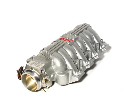 BBK 5006 Chevrolet GM LS1 High Performance SSI Series Intake Manifold – Titanium Silver Powder Coat Finish – Plus BBK 80mm Throttle Body for GM LS1 (Elec Control)