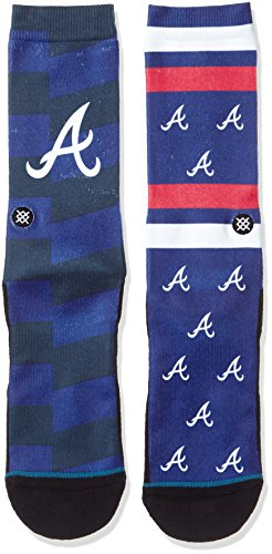 Atlanta Braves Franchise - Stance Men's Braves Splatter Socks Blue L