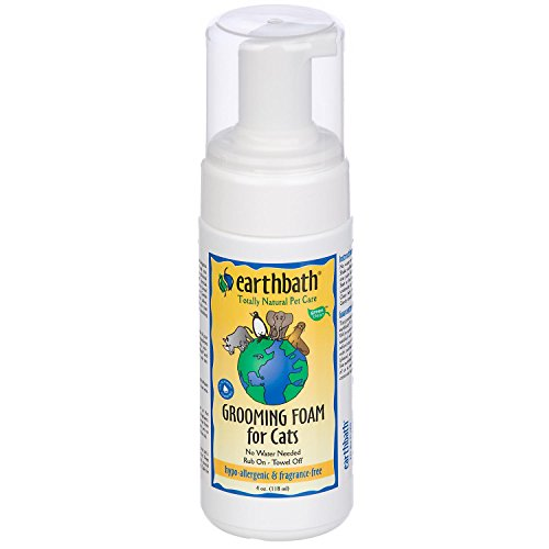 Earthbath All Natural Hypo-Allergenic Cat Grooming Foam, (Cat Bath Foam)
