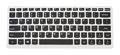 PcProfessional Black Ultra Thin Silicone Gel Keyboard Cover for Lenovo Yoga 720 13 710 14 14 Yoga 710 15 Yoga 720 15 15.6 Flex 4 14 Flex 5 14 Yoga 910 14 Laptop (Please Compare Layout and Model)