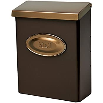 Wall Mounted Locking Mailbox Color French Bronze