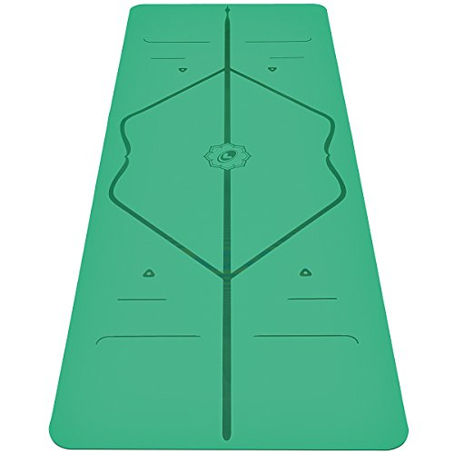 Liforme Yoga Mat - The World's Best Eco-Friendly, Non Slip Yoga Mat With Original Unique Alignment Marker System. Natural Rubber& A Warrior-like Grip (Available in Grey, Pink, Blue, Green) (Green)