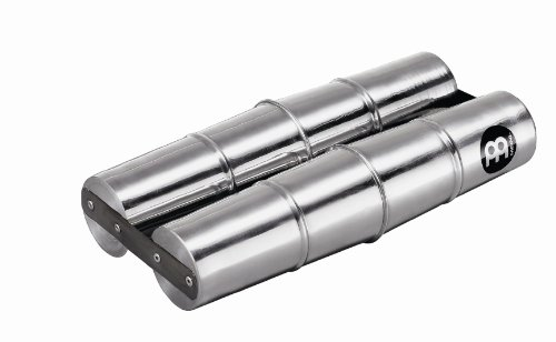 Meinl Percussion SSH2-L Aluminum Double Samba Shaker, Large