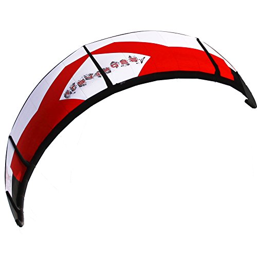 Albatross 17 square red kitesurfing kiteboarding wind surf board surf kite contain the bar and pump by ALBATROSS KITE