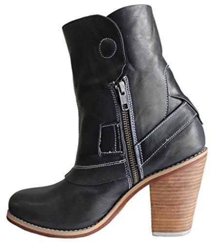 11sunshop Leather ankle boots model Dorothy HGilliane Design EU 33 to 44 Black YxgNAYzDuJ