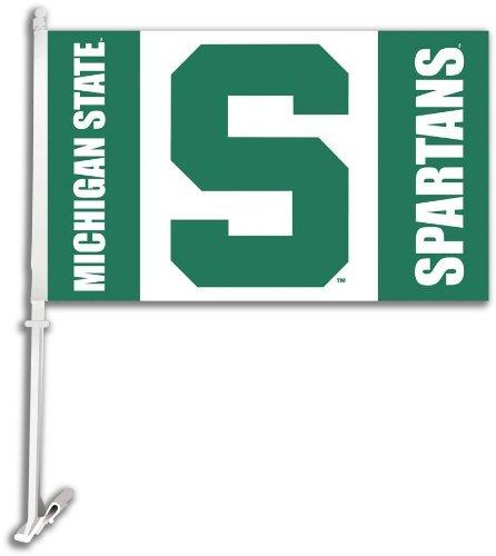 BSI Michigan State Spartans Car Flag Set