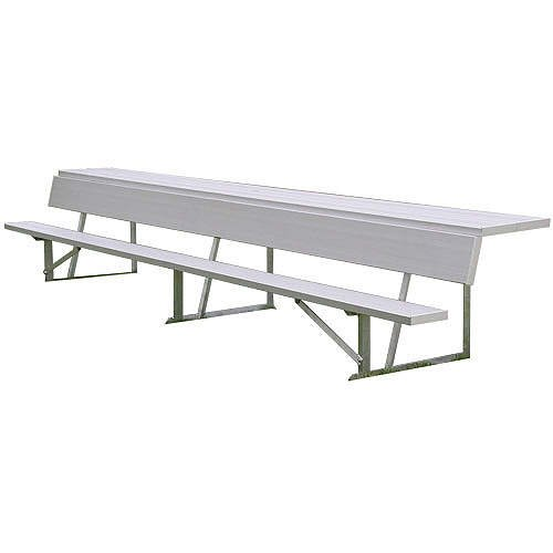 7.5' Players Bench - Alumagoal 7.5' Player's Bench with Shelf