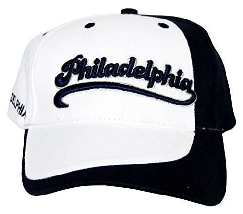Philadelphia Adjustable Navy Enscripted Baseball Hat ()