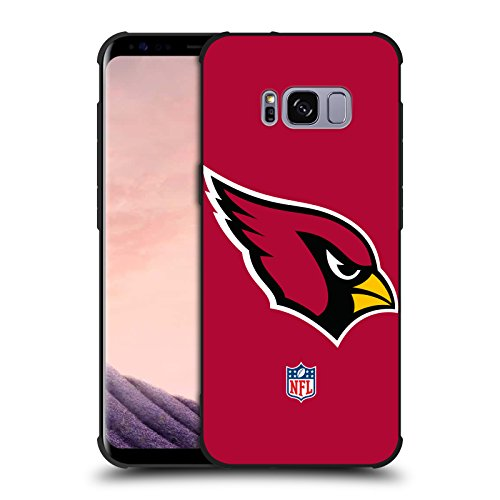 Official NFL Plain Arizona Cardinals Logo Shockproof Matte Black Case for Samsung Galaxy ()