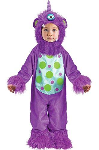 Mememall Fashion Li'l Monster Infant Halloween Costume (Purple) (Lil Monster Halloween Costume)