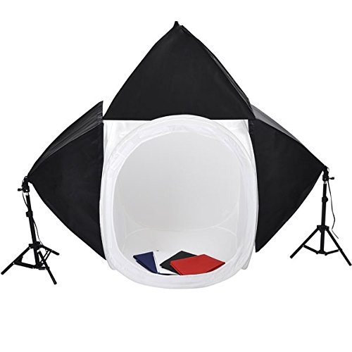 32'' Photo Cube Studio Light Tent 3 Softboxes Kit by LASHOP