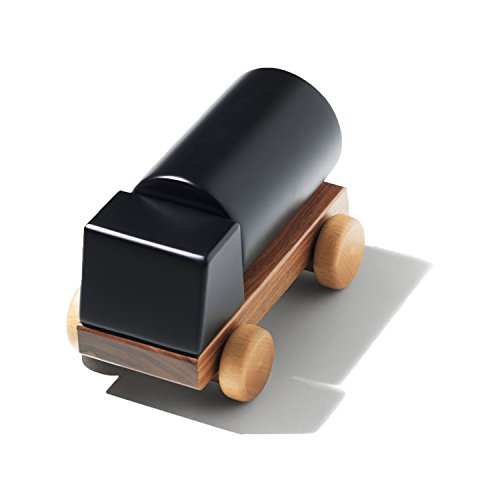 Huzi - Dream Car - Magnetic Wooden Car - Classic Timeless Design - Solid Walnut and Beech Wood (Solid) Classic Handcrafted Wooden Toy Car