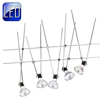 LED Seilsystem Set 5x33 Watt Incl Leuchtmittel