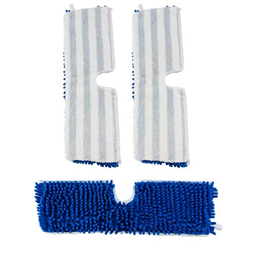 Houseables Flip Mop Refills, Replacement Pads, 3 Pack, 18 inch, Dual-Action Microfiber Head Floor Mops, Dry/Wet, Machine Washable, Double Sided Velcro Flat Sponge, 18
