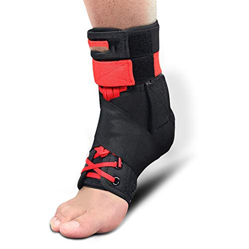 FHPJK 1pc Ankle Support Brace Sports Foot Stabilizer Adjustable Ankle SockStraps Protector Football Guard Ankle Sprain Pads
