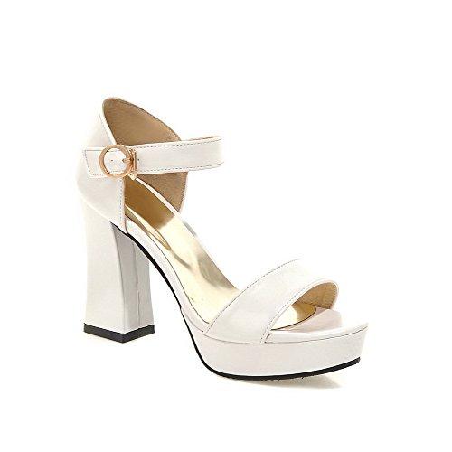 Sandali bianchi con punta aperta per uomo XCAY104