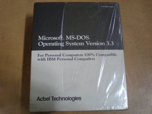 *NEW* Microsoft MS-DOS Operation System Version 3.3 for PCs - NEW in Shrink Wrap - 5.25