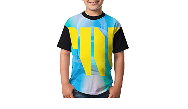 Fantasy Golden Dragon T-Shirts Children T-Shirts Youth Quick-Dry Sweat Absorbent Short Sleeves