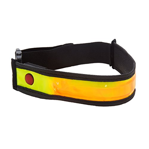 Planet Bike Bright Pant Strap, Illuminated Dog Collar, Jogging Arm Band, Battery Operated, Easy to Wear, Safe for Dogs