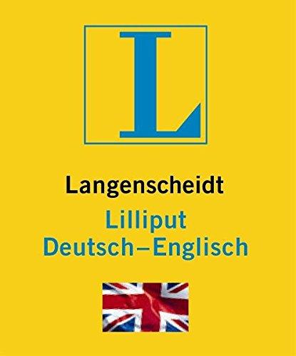 Langenscheidt Lilliput Englisch: Deutsch-Englisch (Langenscheidt Lilliput-Wörterbücher)