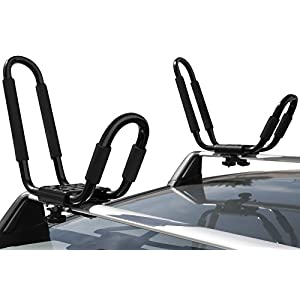 OxGord Universal Kayak Roof Rack Canoe Carrier Top J-Bar Mount for SUV Truck Van Car